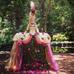 Marie Antoinette Human Vase at Descanso Gardens