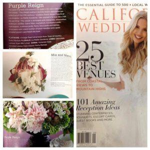 La Petite Gardenia in California Wedding magazine