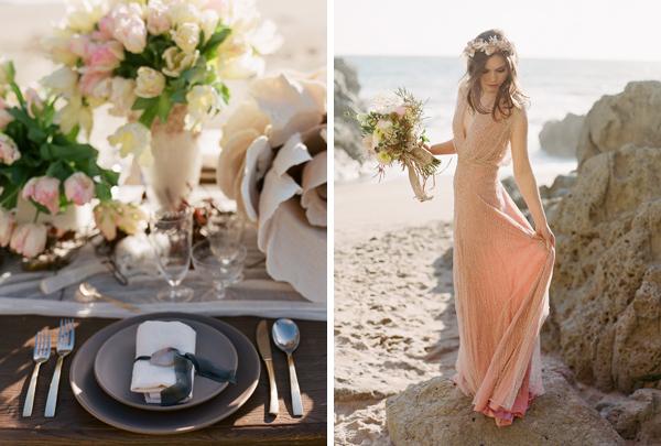 Muted malibu beach wedding la petite gardenia los angeles for Malibu house rentals for weddings