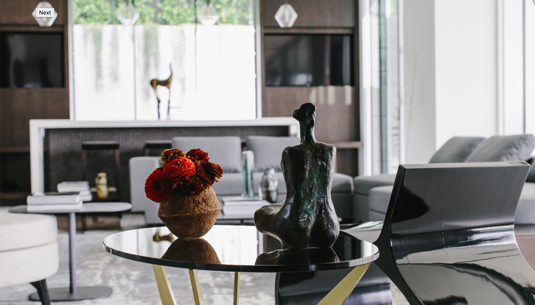 Photo of modern residential floral service by La Petite Gardenia.