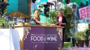 Floral designer Alison Franchi leads a live floral design demonstration at the Disney Food & Wine Festival.
